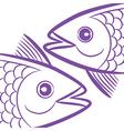pisces fish head vector image vector image