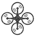 Quadcopter Screw Rotation Grainy Texture Icon vector image vector image