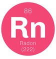 Radon chemical element vector image vector image