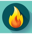 Red fire flame icon vector image vector image