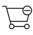 remove items from shopping cart thin line icon vector image vector image