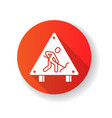 roadsigns red flat design long shadow glyph icon vector image