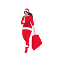 santa girl isolated on white background vector image vector image