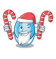 santa with candy oxygen mask mascot cartoon vector image
