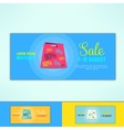 shopping sale ad flyer with in modern flat vector image vector image