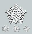 snowflake logo snow icon vector image