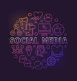 social media circular concept colored vector image