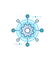 software testing automation icon vector image