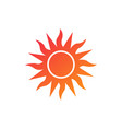summer sun decorative summer design isolated on vector image vector image