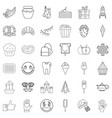 sweet stuff icons set outline style vector image vector image