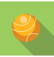 Tennis ball flat icon vector image vector image