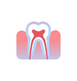 tooth icon human organ anatomy healthcare medical vector image