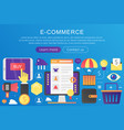 trendy flat gradient color e-commerce vector image