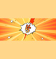 versus logo on expressive background in comic book vector image vector image
