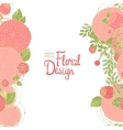 Vertical floral border vector image vector image