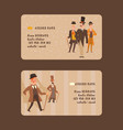 victorian people gentleman in hat character vector image vector image