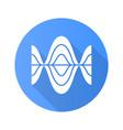 voice recording blue flat design long shadow vector image vector image
