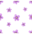 watercolor lavender blossom seamless vector image vector image