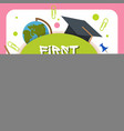 welcome back to school label badge vector image vector image