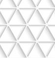 White triangular net seamless vector image vector image