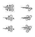 wind icon design template vector image vector image