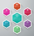 Info graphic design on the grey background vector image