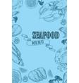 vintage seafood restaurant flyer vector image