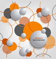 abstract background with orange circles and vector image vector image
