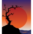 Abstract japanese background - sunset vector image vector image