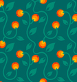 apple pattern orange vector image vector image