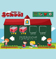 back to school game template vector image vector image