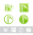 Bamboo Logo Design Collection vector image