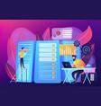 big data job concept vector image
