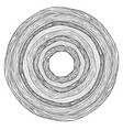 black and white round doodle ornament from tree vector image vector image