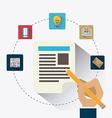 Blogger digital design vector image vector image