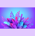 bright stylish 3d foliage in style of vector image