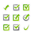 check box icons of vote mark sign choice yes vector image vector image