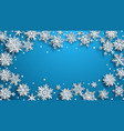 christmas background paper snowflakes vector image vector image