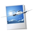 Civil utility airplane vector image