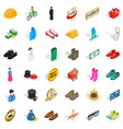 clothes and accessories icons set isometric style vector image vector image