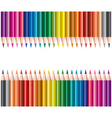 colored pencils in rows vector image vector image