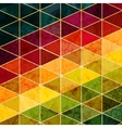 Colorful abstract geometric background with vector image vector image