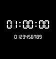 countdown timer with white digital numbers vector image