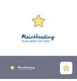 creative star logo design flat color logo place vector image vector image