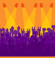 crowd in front of concert scene vector image