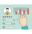 Customer Relationship Management vector image vector image