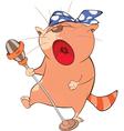 Cute Cat Singing Cartoon Character