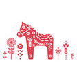 dala swedish horse vector image
