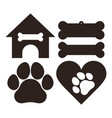 dog set symbols vector image