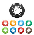 drums icons set color vector image